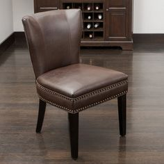 Shop for Jackie Brown Leather Accent Dining Chair by Christopher Knight Home. Get free shipping at Overstock.com - Your Online Furniture Outlet Store! Get 5% in rewards with Club O!