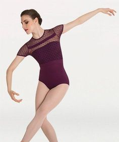 Body Wrappers Tiler Peck Designs P1044 Dotted Cap Sleeve Leotard