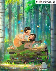 Cute Couple Drawings, Cute Couple Cartoon, Cute Couple Art, Cute Love Cartoons, Cute Drawings, Wallpaper Nature Flowers, Scenery Wallpaper, Hd Wallpaper, Cute Love Stories