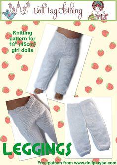FREE PATTERN to knit doll leggings!
