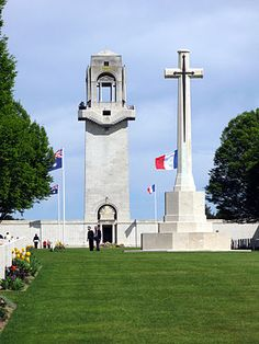 Tomb of the unknown soldier - memorial t the ANZAC (Australian / New Zealand) forces at Villers-Bretonneux.