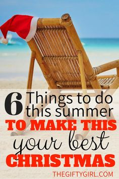 6 Things You Can Do This Summer to Make This Your Best Christmas! Six tips that will help you get ahead of the game financially and mentally for Christmas. #readyforchristmas #bestchristmas #mindfullilving #creativegifting #frugaltips #moneysaving #moneysavingtipsforchristmas #getready
