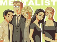 The Mentalist - I like how everybody looks anime and then Rigsby is just ...