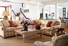 The sectional is so cute! Not crazy about the coffee table, but darling sofa!