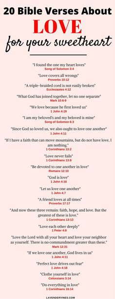 There are so many bible verses about love in the Bible. I hope this list of love bible verses helps you with inspiration for bible verses about relationships and marriage Popular Bible Verses, Bible Verses About Love, Bible Love, Love Bible Verses, God Quotes About Love, Bible Bible, Bible Verse For Husband, Tattoo Bible Verses, Words About Love