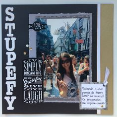 Stupefy scrapbook layout
