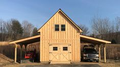 Custom shed gallery. Vermont Custom Sheds. Built on yout site, built better and built to last Building A Garage, Building A House, Small Barn Plans, Small Barns, Pole Barn Garage, Shed Builders, Pallet Barn, Custom Sheds, Barn Shop