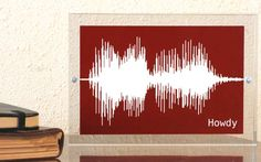 Art made from spoken words... I love this idea.  I think I already have someone in mind who will need this!