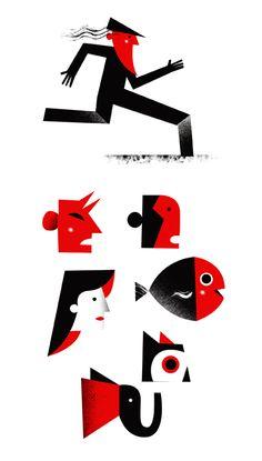 Philip Giordano - illustration for Timbuktu magazine.