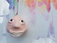 Christmas Elf Ornament Whimsical Hand Sculpted by MagpiesandMimsy, $13.70
