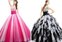 Vestidos de quince en dos colores - Fifteen dresses in two colors