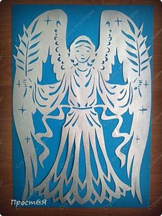 Картина, панно, рисунок Вырезание: Ангел Бумага Пасха