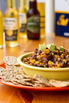 Black Bean Chili Dip from Oh She Glows