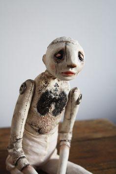 OOAK Art Doll Soft Sculpture Fiber Art by StephanieVandalART