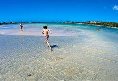 The best beach in Greece: Elafonisi beach in Crete.