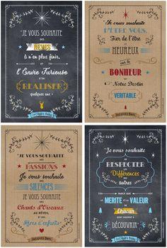 4 cartes de souhaits inspirées de Jacques Brel