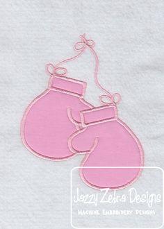 Boxing Gloves Applique Design