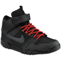 Nike Mogan Mid 2 OMS - Men's - Skate - Shoes - Black/University Red/Anthracite