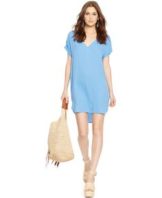 Polo Ralph Lauren Silk V-Neck Dress