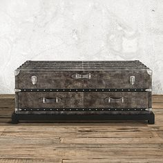 Inspired By An Antique Steamer Trunk The Arhaus Martin 49 Rectangle Trunk Coffee Table