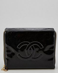 Chanel Black Patent Leather Jewelry Case
