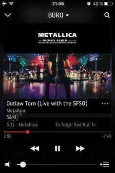 """Auf @Sonos läuft gerade """"Outlaw Torn (Live with the SFSO)"""" von Metallica #NowPlaying"""