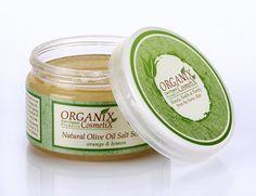 Olive Oil Salt Scrub 420 Gr Plastic Jar