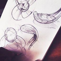 Organic details of the solar flower fan #designsketching #industrialdesign #productdesign #idsketching #sketchaday #design #sketch #doodle #organic #forms #eskiz #cizim