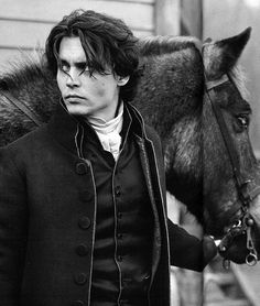 "Johnny Depp in Sleepy Hollow as Ichabod ""Killer Cheekbones"" Crane. #creepitreal"