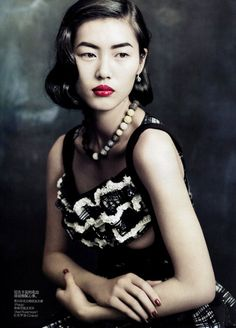"Liu Wen. Photographed by Paolo Roversi for Vogue China September 2010. ""Dream Away"""