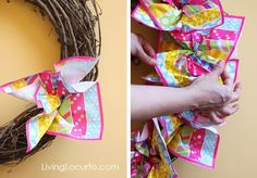 How to Make a Spring Wreath {Easy Napkin Craft} Easter Crafts To Make, Easter Crafts For Toddlers, Easy Diy Crafts, Crafts For Teens, Fun Crafts, Wreath Crafts, Wreath Ideas, Easter Wreaths, Spring Crafts