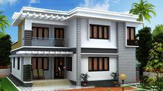 Modern Exterior House Designs, Latest House Designs, Cool House Designs, Modern House Design, Exterior Design, New Model House, Model House Plan, Dream House Plans, Small House Plans
