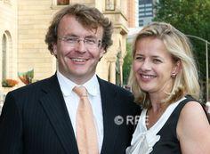 Mabel en Friso in Rotterdam, waar de prins de Leonardo da Vinci prijs krijgt.