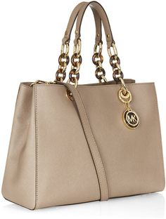 michael kors cynthia medium satchel beige | Michael By Michael Kors Cynthia Medium Satchel in Beige (gold) - Lyst One day I will get this!