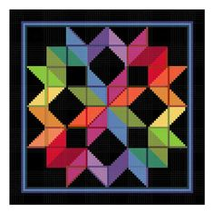Carpenters Wheel Inspired By An Amish Quilt Counted Cross Stitch Chart Pattern