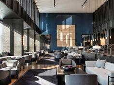 Hyatt Regency Wuhan Optics Valley, a Design Boutique Hotel Wuhan, China Hotel Lounge, Restaurant Lounge, Restaurant Interior Design, Commercial Interior Design, Commercial Interiors, Lobby Lounge, Luxury Restaurant, Lounge Chairs, Lounge Design