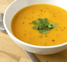 Indian-Inspired Carrot, Ginger, and Coriander Soup: An easy and healthy carrot and ginger soup with coriander by Synergee / Getty Images