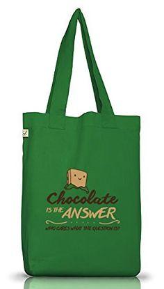 Shirtstreet24, Chocolate Is The Answer, Jutebeutel Stoff Tasche Earth Positive (ONE SIZE), Größe: onesize,Moss Green - http://herrentaschenkaufen.de/shirtstreet24/one-size-shirtstreet24-chocolate-is-the-answer-10