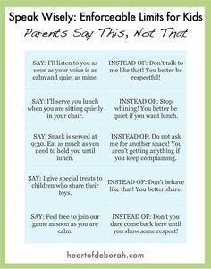 Calmer ways to talk to kids
