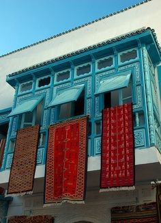 Windows and Carpets - Qayrawan - Tunisia