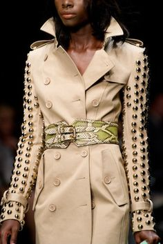 Burberry...love the studded detailing on the sleeves....