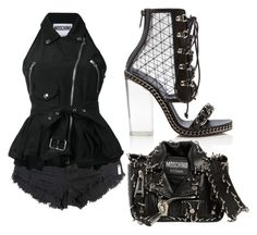 """""""Untitled #2570"""" by fallen-angel-007 on Polyvore featuring OneTeaspoon, Balmain and Moschino"""