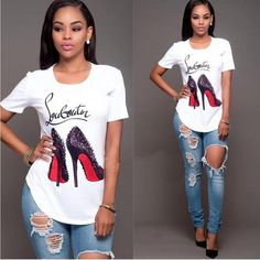 Shirts & Tops, Casual T Shirts, Casual Tops, Casual Outfits, Flannel Outfits, White Casual, Look Fashion, Fashion Outfits, Womens Fashion