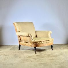 Large Deep Seated Armchair - Decorative Collective Antiques Online, Selling Antiques, House Numbers, Seat Cushions, Love Seat, Cool Designs, Armchair, Upholstery, Couch