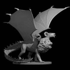 3D Printable Chimera Updated by Miguel Zavala Chimera, Print Pictures, Printables, Models, 3d, Games, Boss, Plays, Print Templates