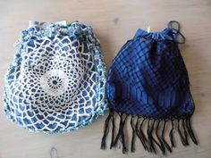 Project bag made out of a doily.