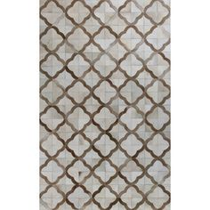 <strong>Bashian Rugs</strong> Tuscon Cow Hide Ivory & Camel Area Rug