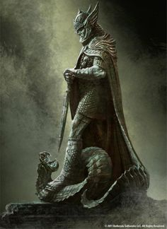 Concept art for a Shrine to Talos from The Elder Scrolls V: Skyrim.