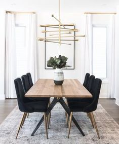 49 delightful black dining chairs images kitchen dining dinning rh pinterest com