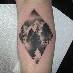 Pine Forest Tattoo Design by Jade
